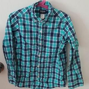 OshKosh cotton blue plaid shirt